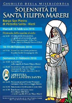 Solennità di Santa Filippa Mareri - Borgo S. Pietro