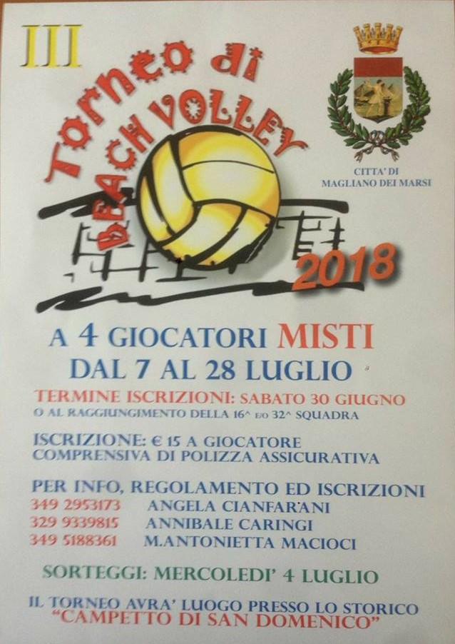 III° Edizione del torneo di Beach Volley