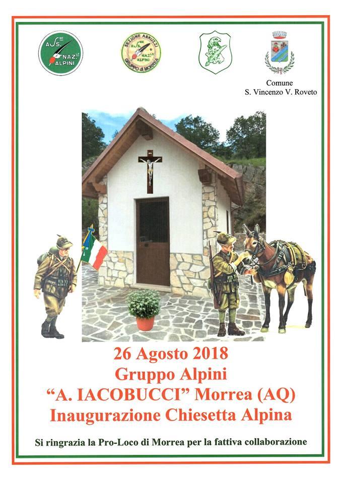 Inaugurazione chiesetta alpini a Morrea