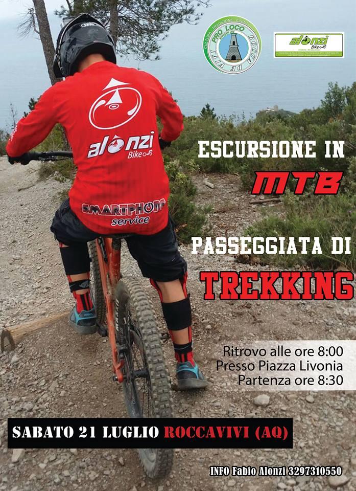 Escursione in Moutain bike a Roccavivi di San Vincenzo Valle Roveto