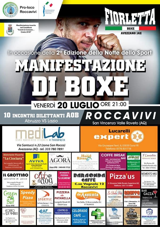Manifestazione di Boxe a Roccavivi