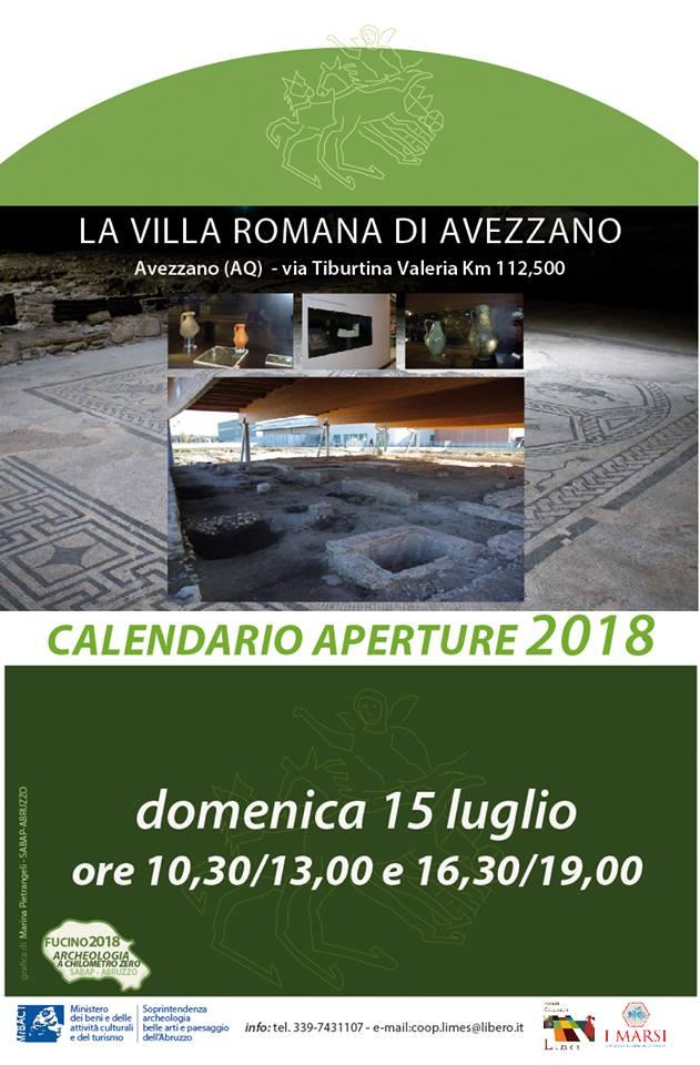 Visita archeologica alla Villa Romana di Avezzano
