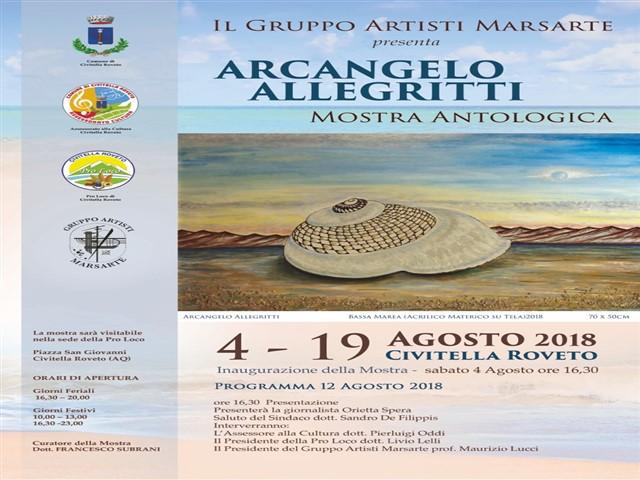 Mostra di Arcangelo Allegritti presso Civitella Roveto