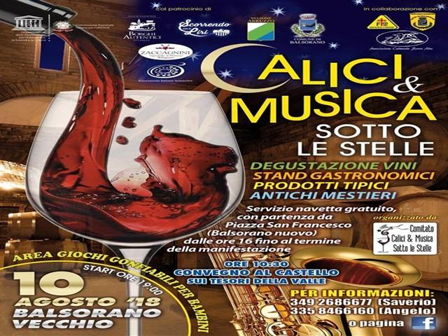 Calici e musica sotto le stelle nel borgo di Balsorano Vecchio