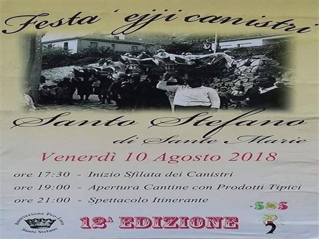 Festa ejji Canistri a Santo Stefano di Sante Marie