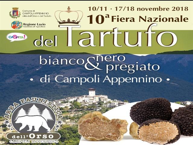 10' Edizione della Fiera Nazionale del Tartufo bianco e nero pregiato di Campoli Appennino