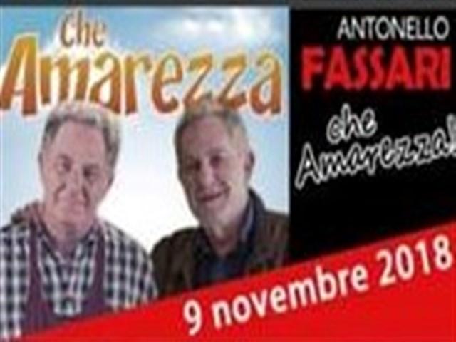 Spettacolo Che Amarezza di Antonello Fassari al Castello Orsini