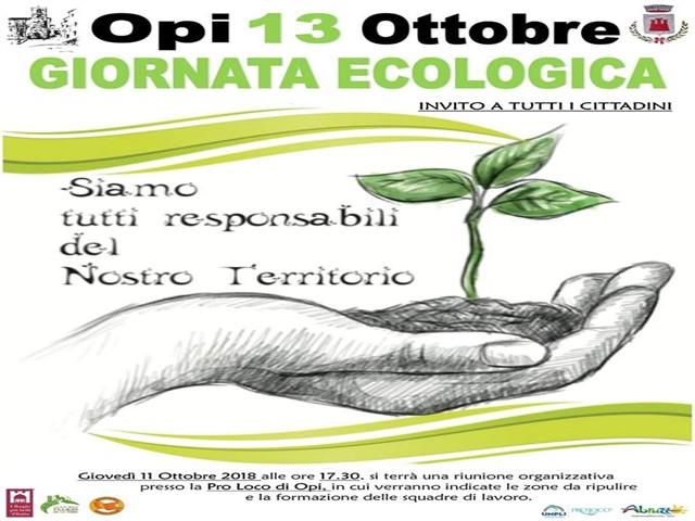 Giornata ecologica a Opi