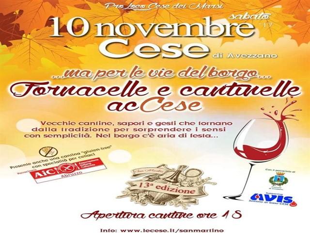 Per le vie del borgo tra fornacelle e cantinelle a Cese