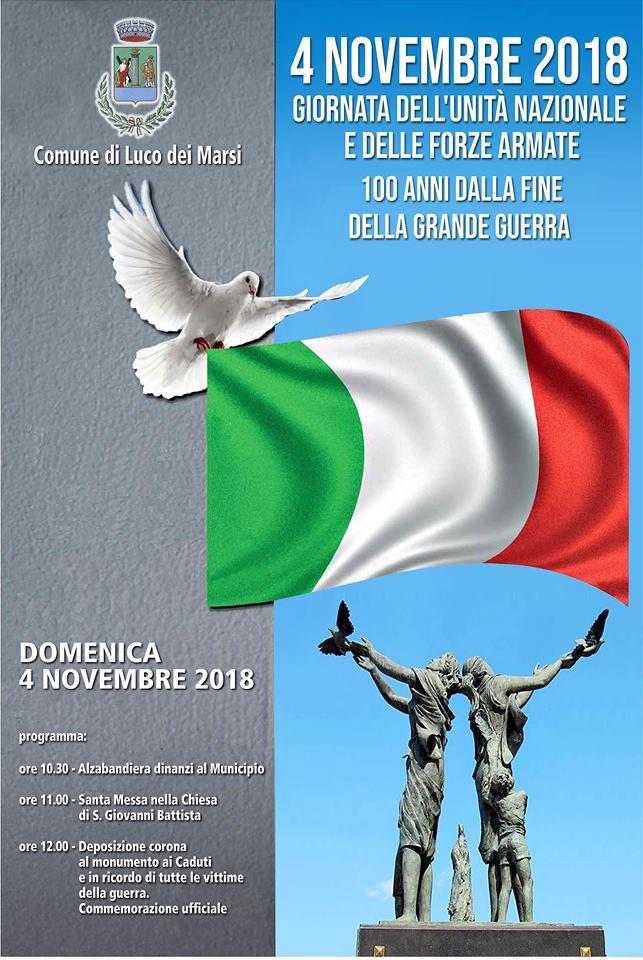 Celebrazione della giornata dell'unita' nazionale e delle forze armate