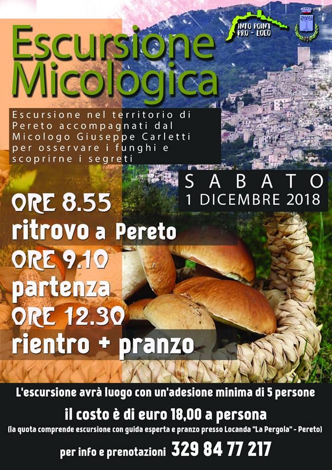 Escursione Micologica a Pereto