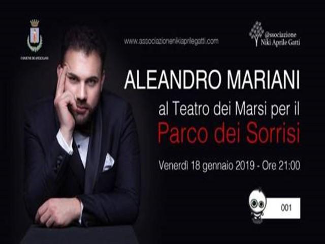 Esibizione del tenore Aleandro Mariani per una raccolta fondi