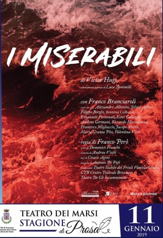 Spettacolo di Prosa al Teatro Dei Marsi dal nome 'I Miserabili'