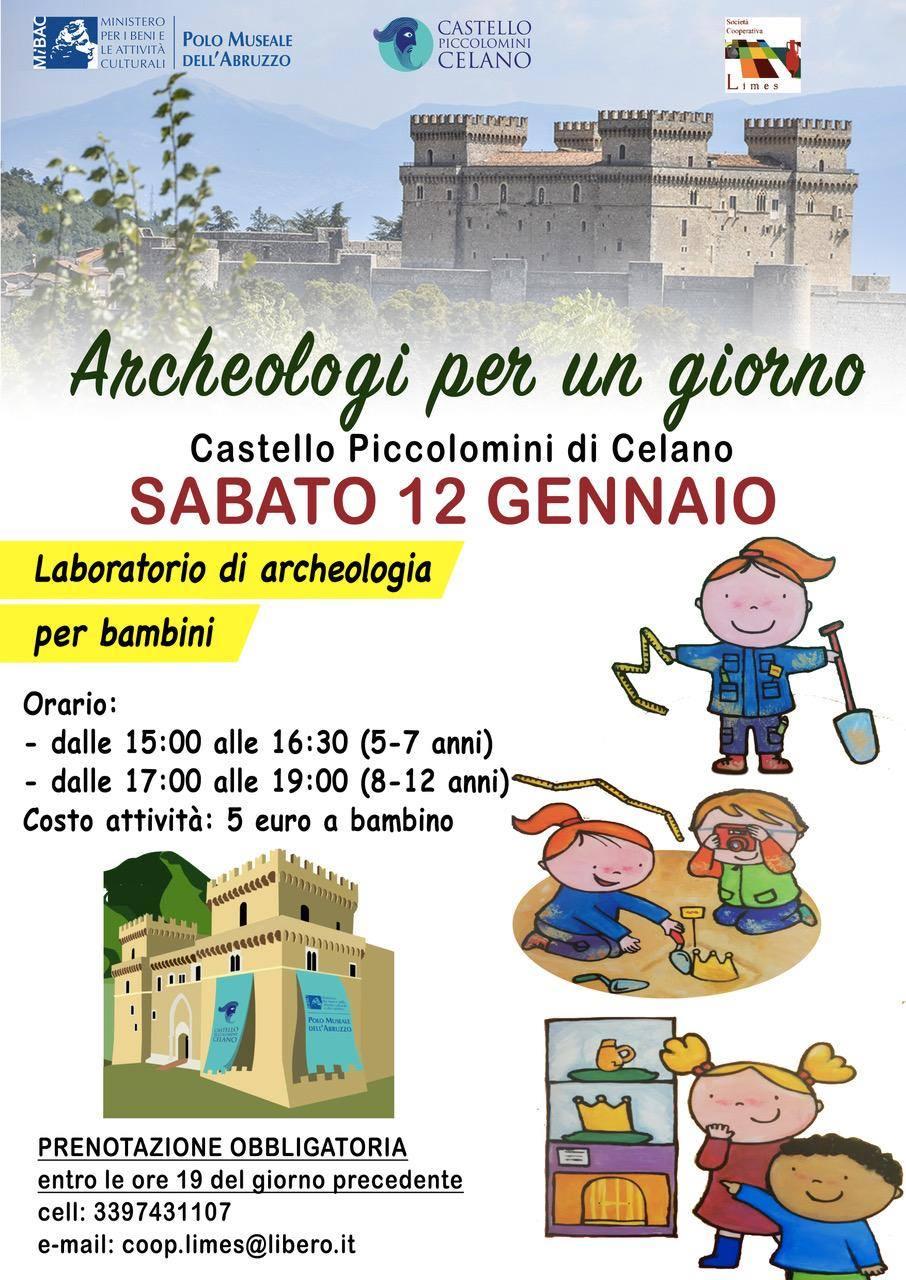 Archeologi per un giorno, Laboratorio di archeologia per bambini