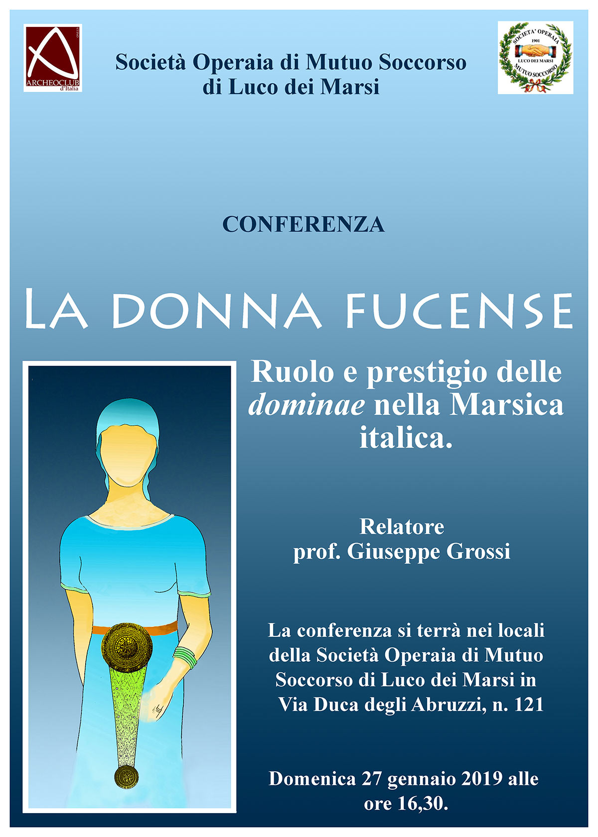 Conferenza sulla Donna Fucense a Luco Dei Marsi