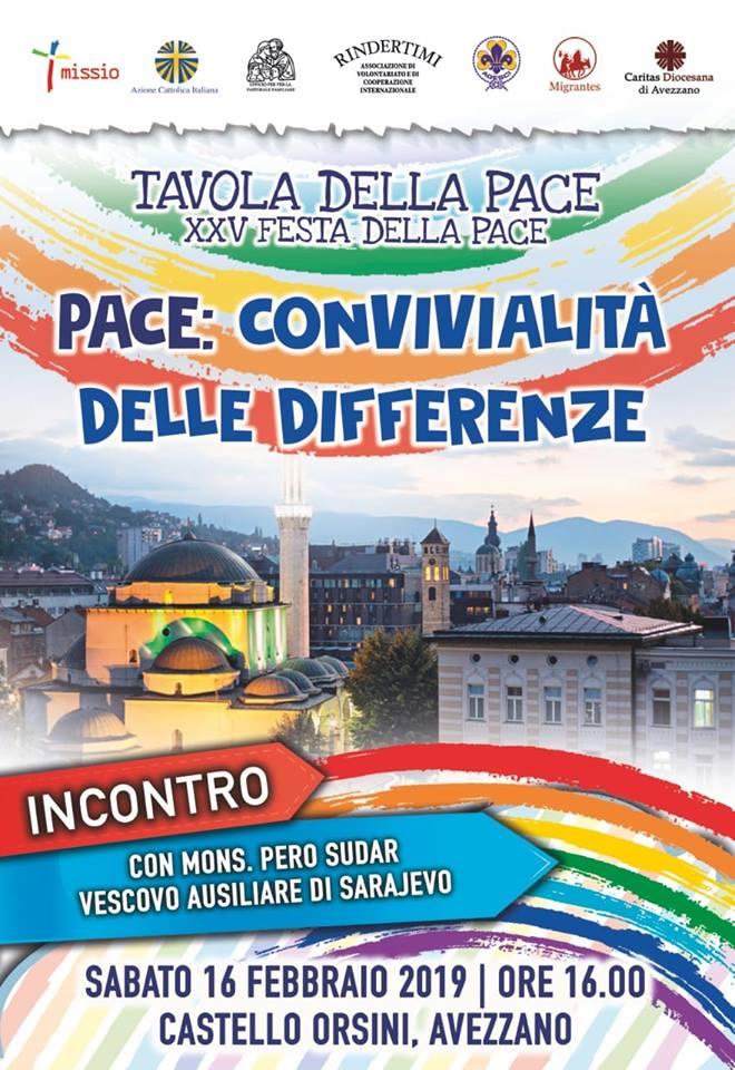 Convegno 'Pace: convivialita' delle differenze' con Mons. Pero Sudar
