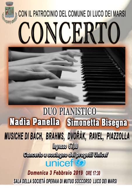 Concerto del duo pianistico Nadia Panella e Simonetta Bisegna a Luco Dei Marsi