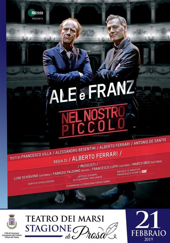 Spettacolo Nel Nostro piccolo, con Ale e Franz al Teatro Dei Marsi