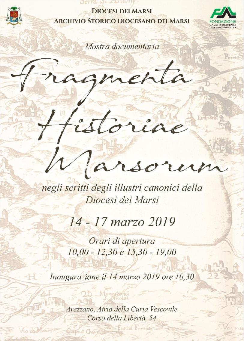 Inaugurazione della mostra 'Fragmenta Historiae Marsorum' ad Avezzano