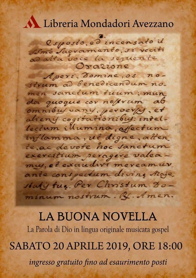 Evento 'La Buona Novella e la musica Gospel'