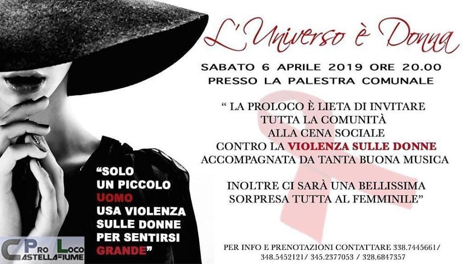 Cena Sociale contro la violenza sulle donne a Casellafiume