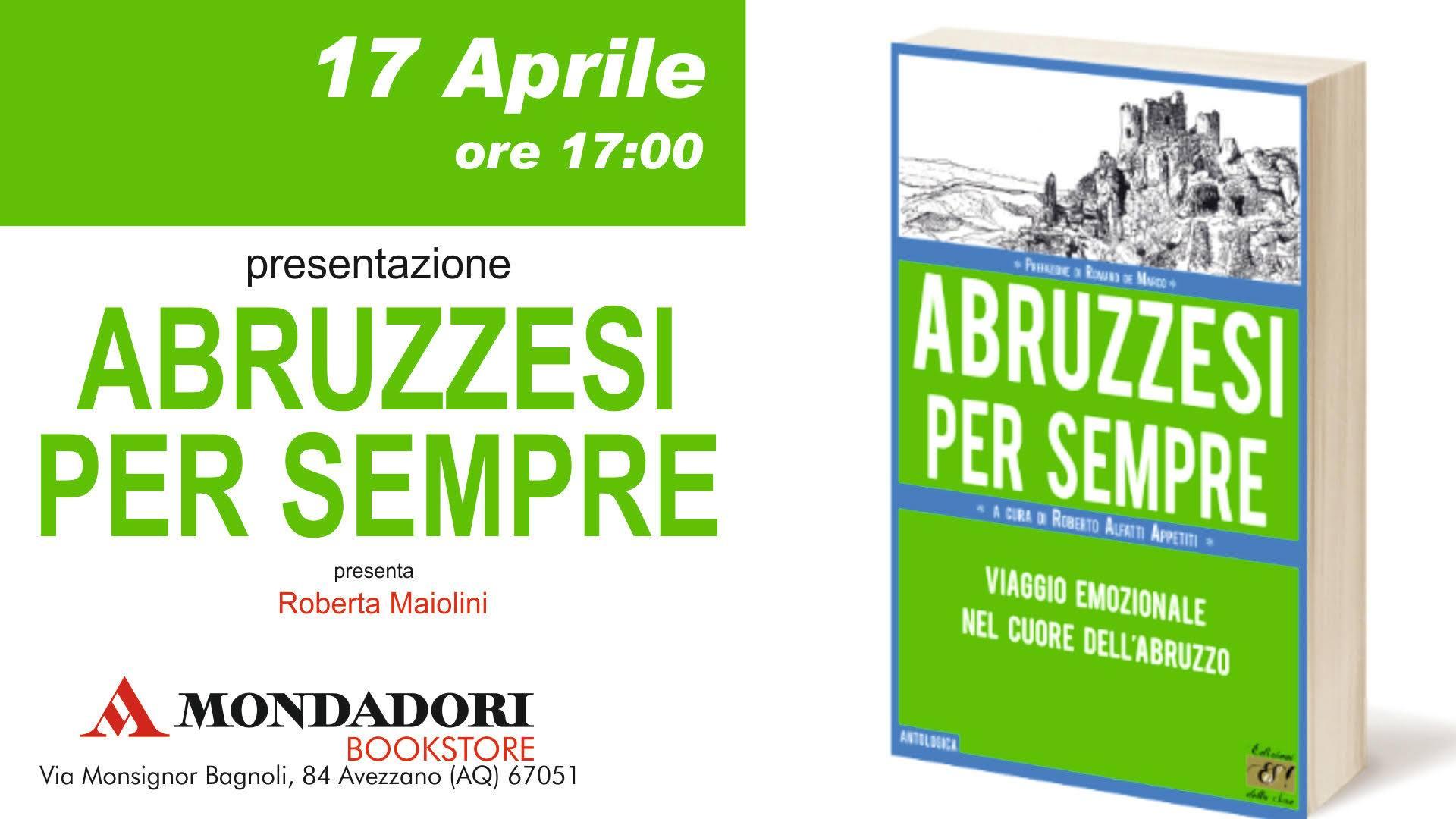 Presentazione del libro 'Abruzzesi per sempre'