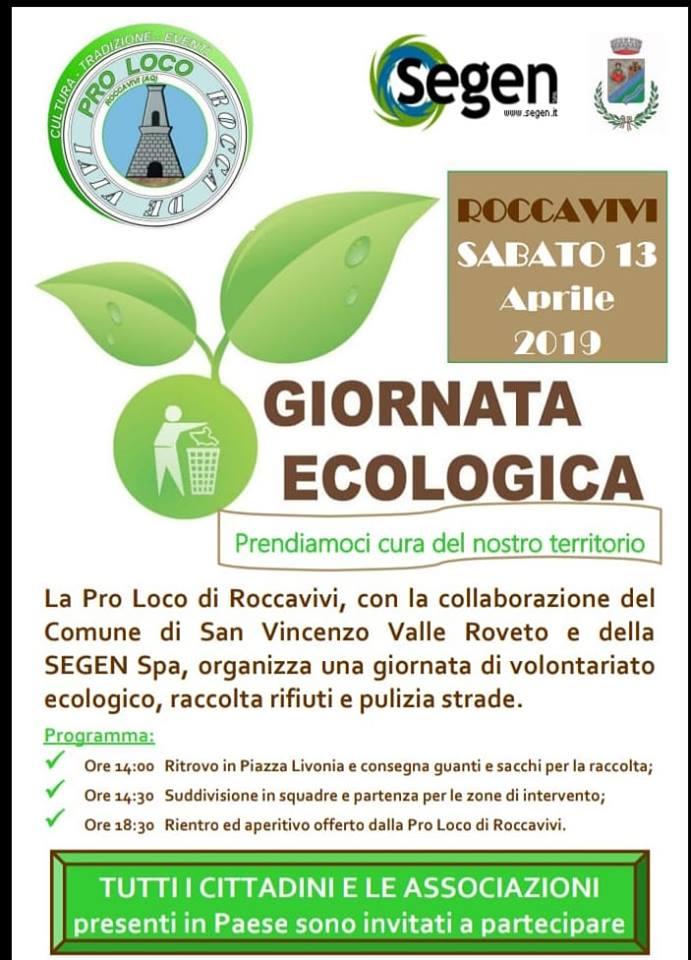 Giornata Ecologica a Roccavivi di San Vincenzo Valle Roveto