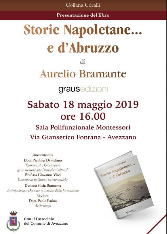 Presentazione del romanzo 'Storie Napoletane... e d'Abruzzo' di Aurelio Bramante