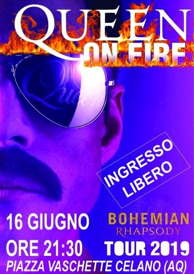 Concerto del gruppo Queen on Fire a Celano