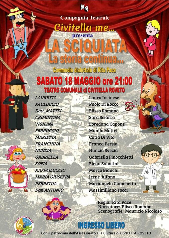 Commedia dialettale a Civitella Roveto dal nome 'la Sciquiata la storia continua..'
