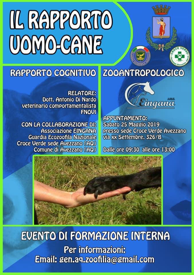 Seminario sul rapporto uomo - cane ad Avezzano