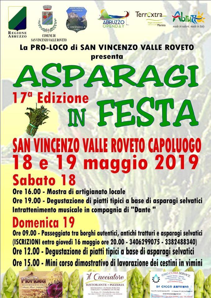 Asparagi in festa a San Vincenzo Valle Roveto