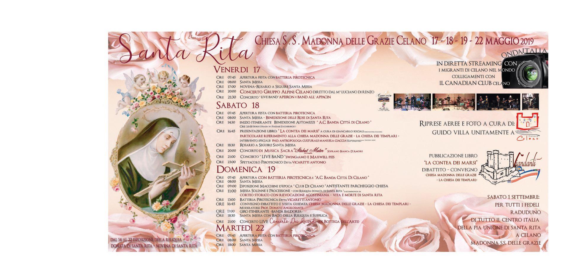 Festa in onore di Santa Rita a Celano