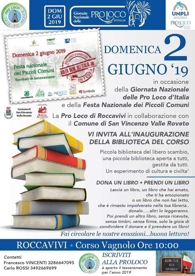 Inaugurazione della Biblioteca del Corso a Roccavivi