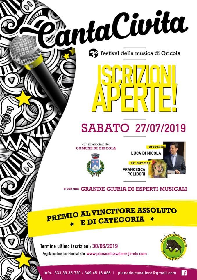 3' Edizione del Festival della Musica 'Canta  Civita' ad Oricola