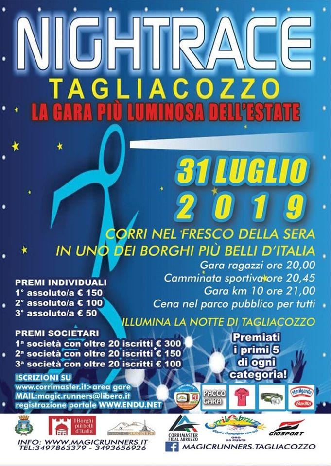 Night Race Tagliacozzo, la gara piu' luminosa dell'estate
