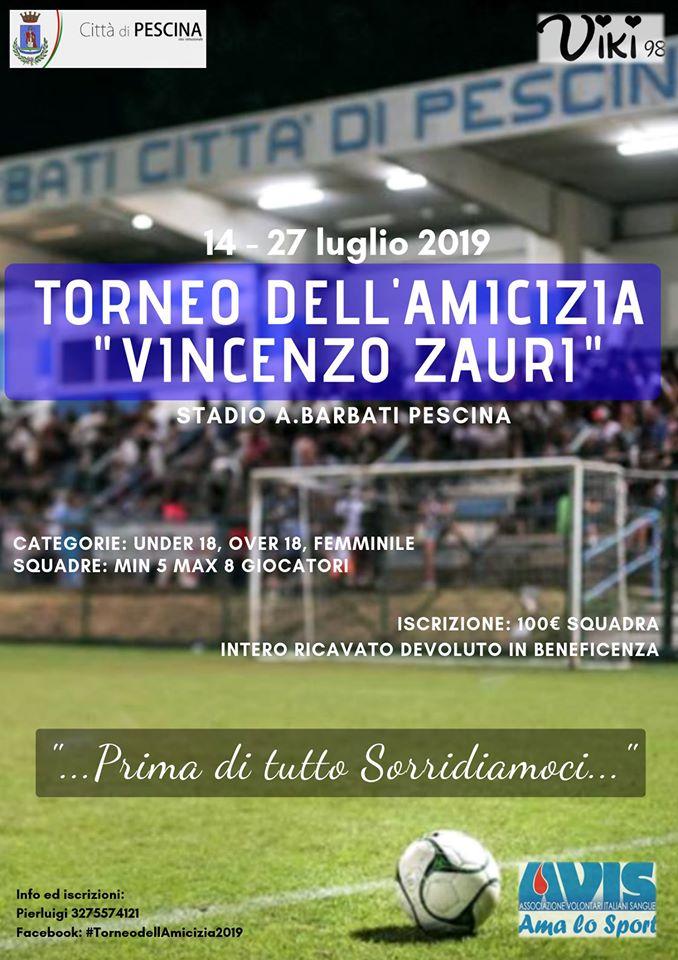 Torneo dell'Amicizia 'Vincenzo Zauri' 2019