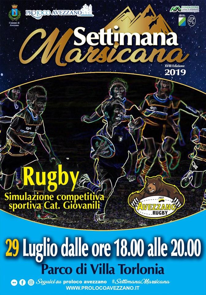 Simulazione competitiva di Rugby per la Settimana Marsicana