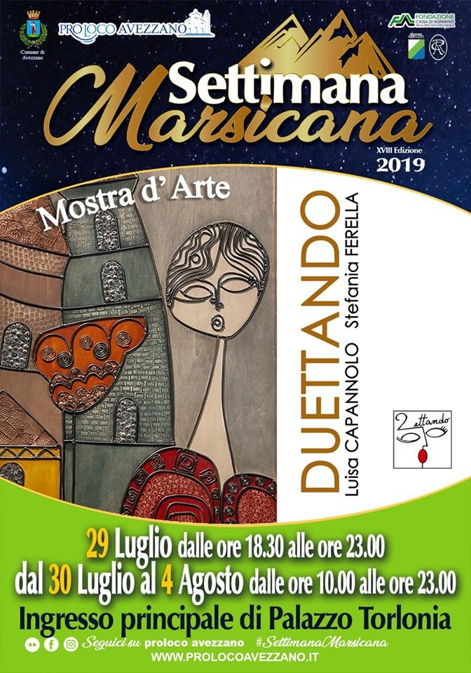 Mostra d'arte 'Duettando' di Luisa Capannolo e Stefania Ferella alla Settimana  Marsicana