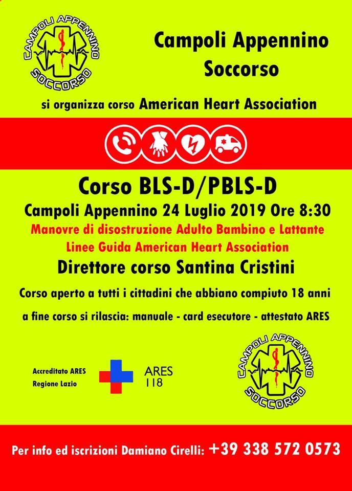 Corso BLSD / PBLS-D a Campoli Appennino