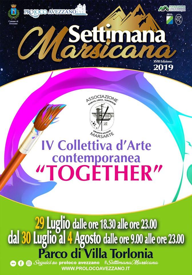 IV Collettiva d'arte contemporanea dal nome  'TOGETHER' alla Settimana Marsicana