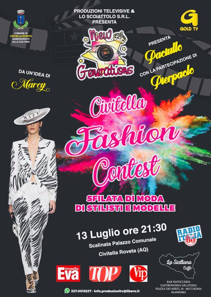 'Civitella Fashion Contest' sfilata di moda di stilisti e modelle