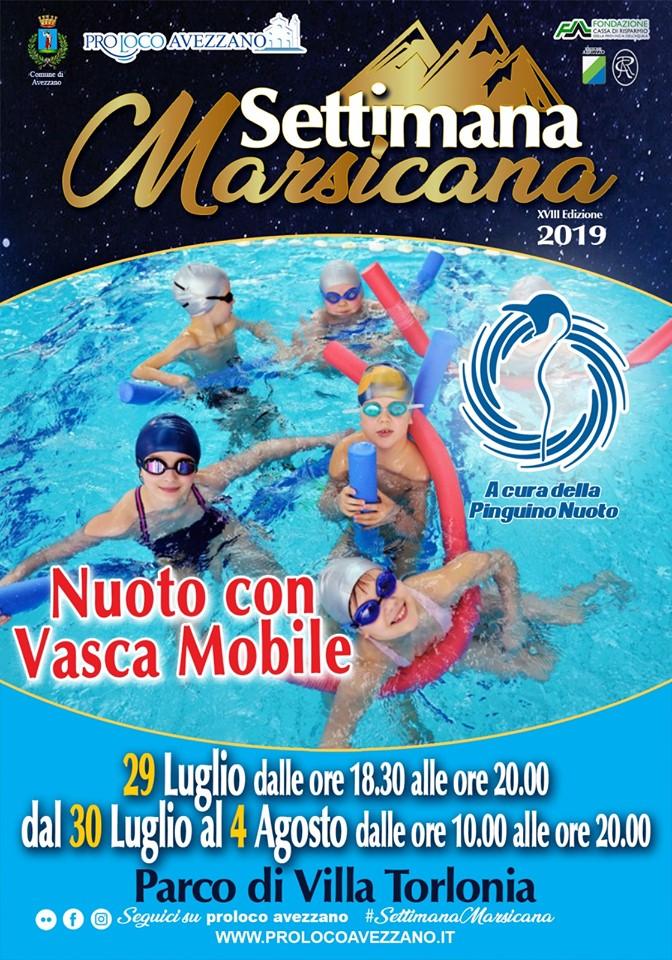 Nuoto con vasca mobile alla settimana Marsicana