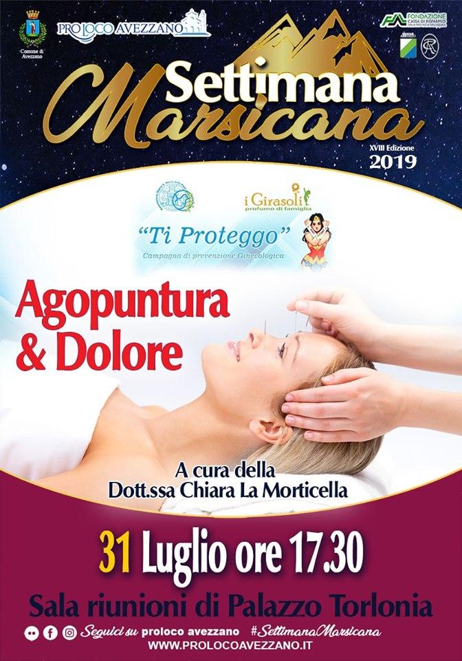 Convegno 'Agopuntura e dolore' alla Settimana Marsicana