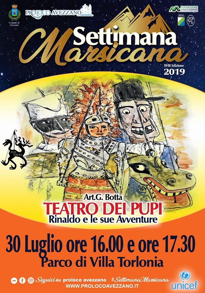 Teatro dei Pupi alla Settimana Marsicana
