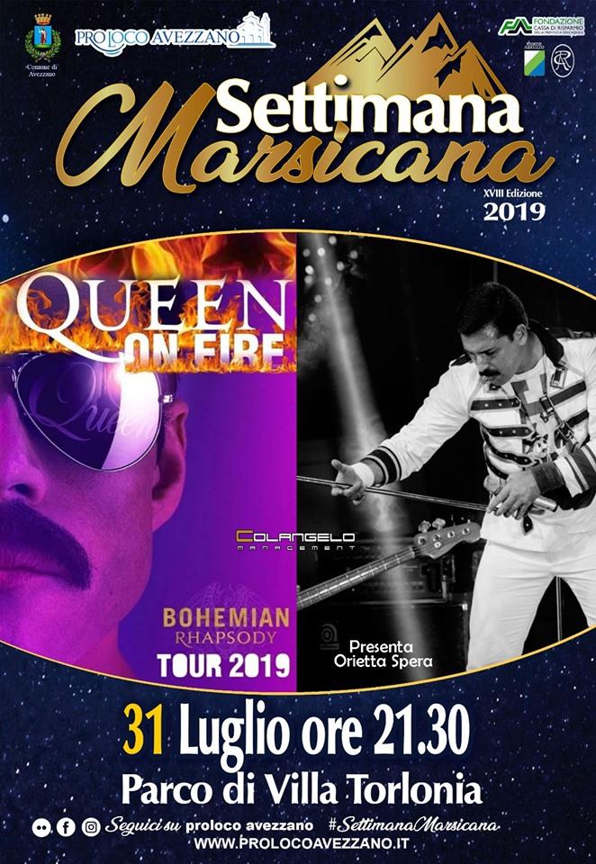 Concerto dei Queen on fire' alla settimana Marsicana
