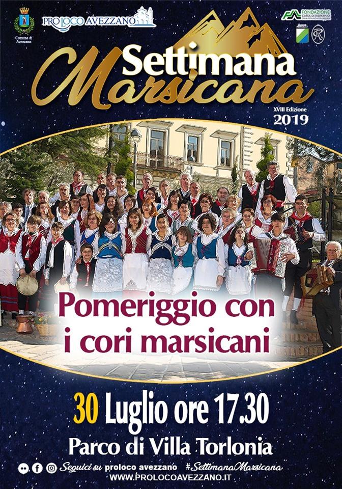 Pomeriggio con i cori Marsicani alla settimana Marsicana