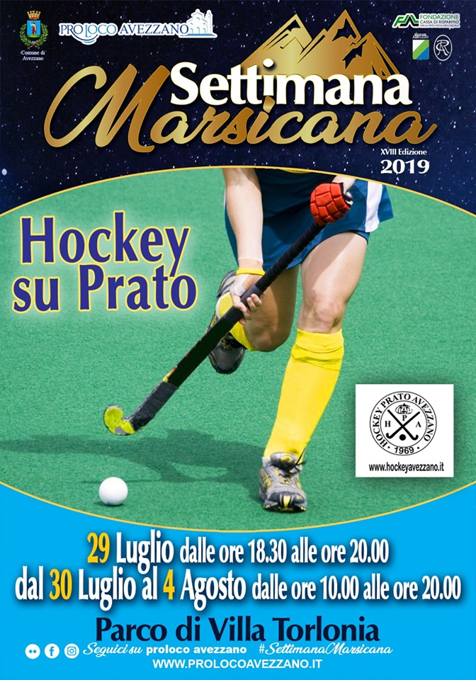 Esibizione di Hockey su prato alla Settimana Marsicana