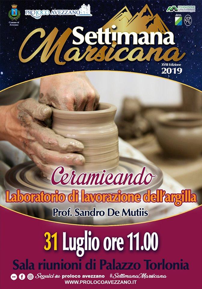 'Ceramicando', laboratorio di lavorazione dell'argilla alla Settimana Marsicana