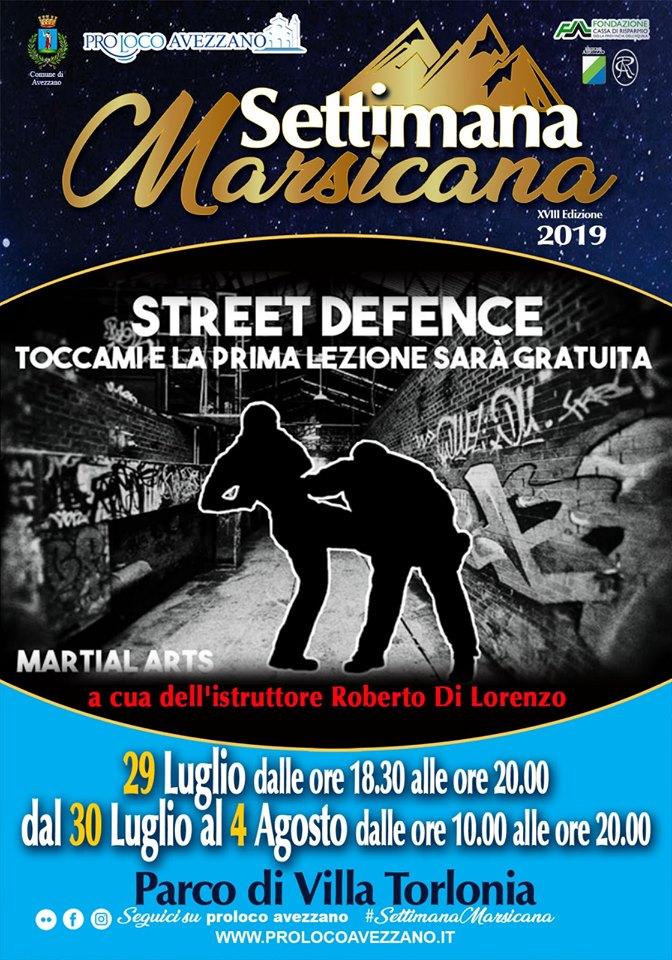 Dimostrazioni di difesa personale alla Settimana Marsicana